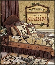 lodge cabin log cabin themed bedroom decorating ideas - moose fishing camping hunting lodge bedrooms for boys - decorating lodge style northwood wild animals woods theme bedrooms - rustic style home decorating - black bear decor - moose decor - cabin decor - wall mural stickers nature theme boys room awesome