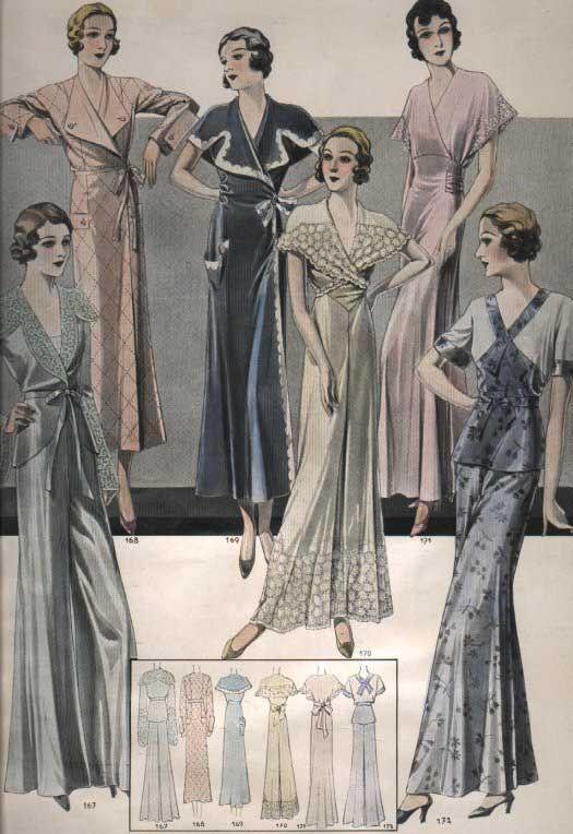 Women s style 1930s dress