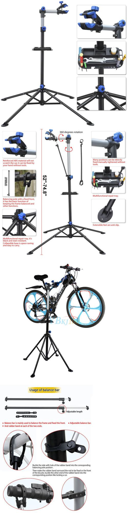 Workstands 177847: Pro Bike Adjustable 41 To 75 Repair Stand W/ Telescopic Arm Cycle Bicycle Rack -> BUY IT NOW ONLY: $38.94 on eBay!