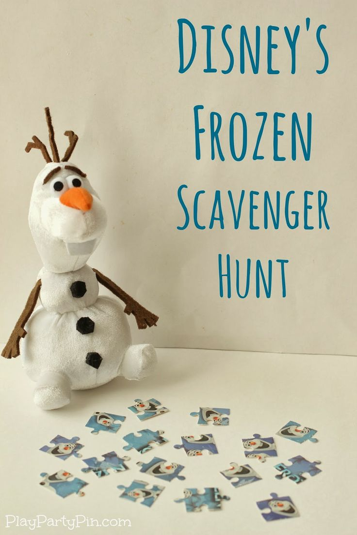 Disney's FROZEN scavenger hunt and party game ideas from playpartyplan.com