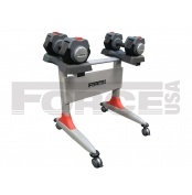 Force USA Adjustable Dumbbell & Rack 30lb (13.6kg)  - Pair of 2.3 kg – 13.6 kg (5 lb. to 30 lb.) adjustable dumbbells - Easy quick weight selection adjustment technology - 1.1 kg (2.5 lb.) plate increments - Replaces 6 set of weights - Ergonomic handle for real dumbbell feel - Commercial-grade cast iron plates - Strong ABS material covered end caps and housings   For more info visit: http://www.gymandfitness.com.au/force-usa-30lbs-13-6kg-adjustable-dumbbell-set-rack.html