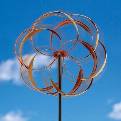 Bits and Pieces - flower wind spinner