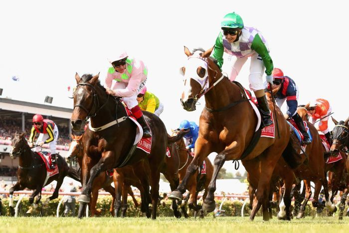 Michelle Payne rides Prince Of Penzance to Melbourne Cup win as the first ever female jockey to win the Cup