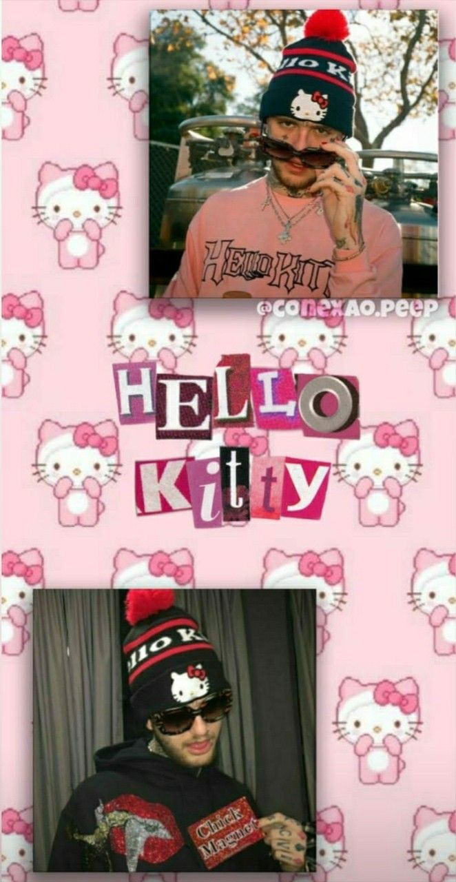 Lil Peep Hello Kitty In 2020 Hello Kitty Kitty I Wallpaper