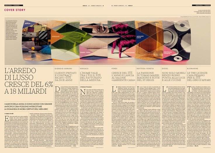@Moda24 latest coverstory spread - handmade paper visualization
