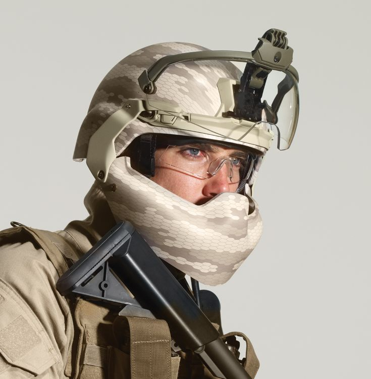 """Revision Military BATLSKIN (""""Battle Skin"""") Modular Head Protection System (MHPS). It's a tiny bit disturbing that we are taking our design cues from the Empire's Stormtroopers now."""