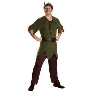 DISGUISE Peter Pan Classic Adult Mens Disney Halloween Costume XL 42 - 46