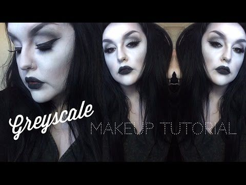 Black and White 'Detox' Greyscale Makeup Tutorial - Charli Xo - YouTube