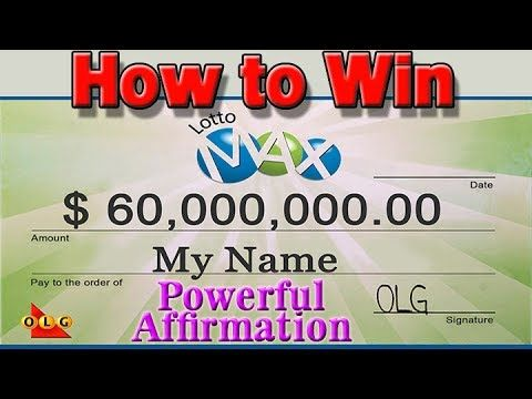 How to Win LOTTO MAX  JACKPOT - Powerful Lotto Winning Affirmation - http://LIFEWAYSVILLAGE.COM/lottery-lotto/how-to-win-lotto-max-jackpot-powerful-lotto-winning-affirmation/