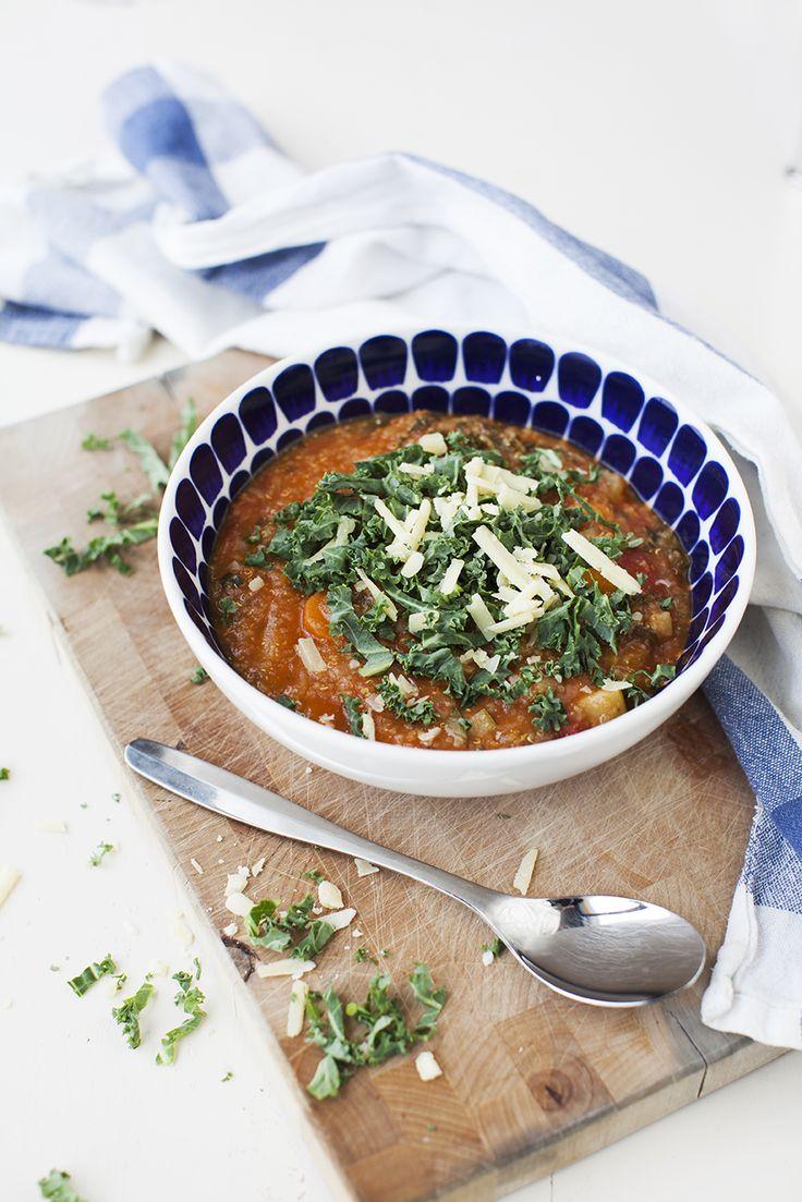 Grönsakssoppa med quinoa: http://martha.fi/sv/radgivning/recept/view-93381-6066