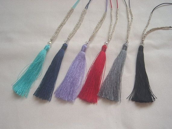 WHOLESALE PACKET of 10 Tassel Necklace with by ExtravaganzaBali
