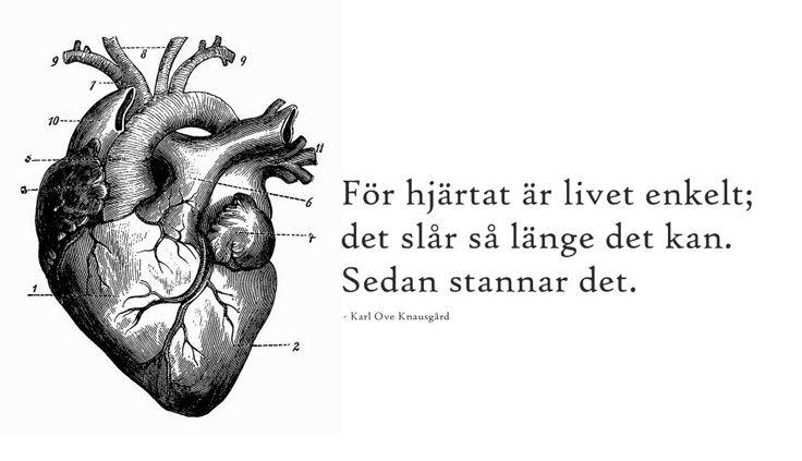 för hjärtat är livet enkelt.