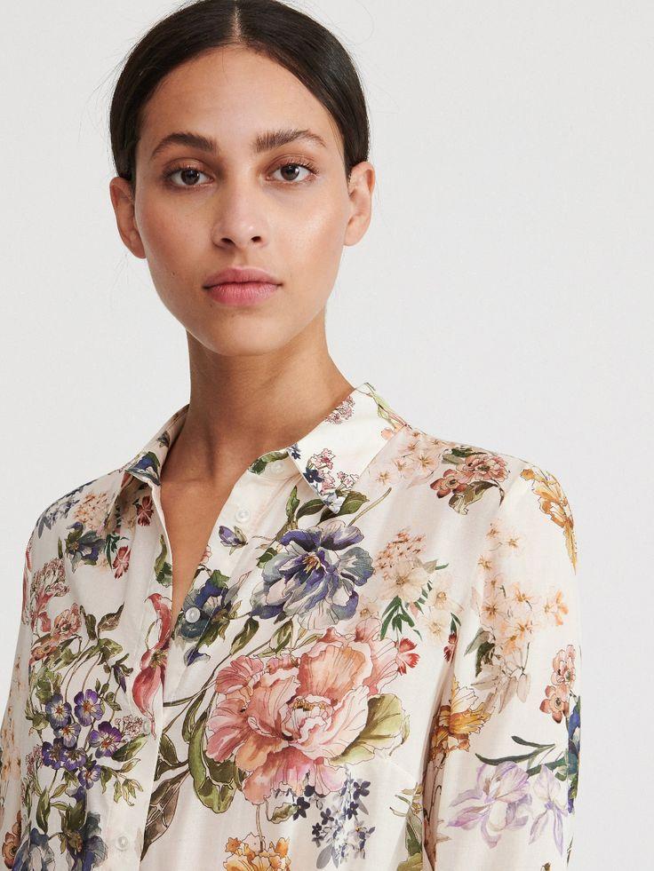 Koszula W Kwiaty Reserved Yb464 01x