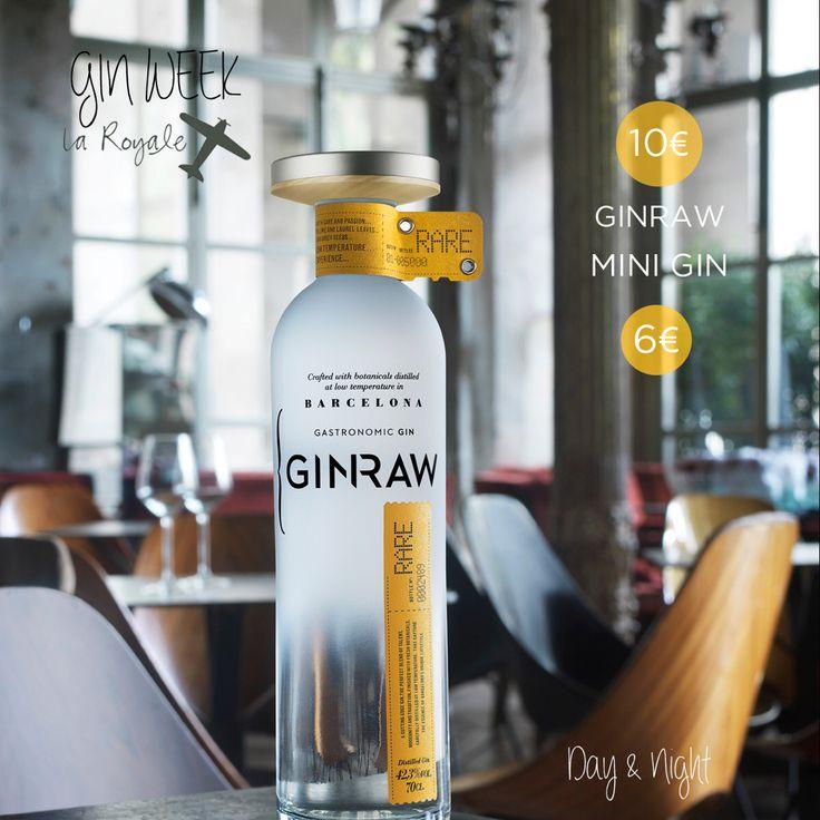 """Esta semana en La Royale celebramos la """"Gin Week"""" de la mano de Gin Raw. Una semana en la que podrás disfrutar de nuestros Gin Tonics Premium de Brockmans a 10€ y mini Gin Tonics a 6€.  #LaRoyale #PacoPérez #Barcelona #GinWeek #GinRaw"""