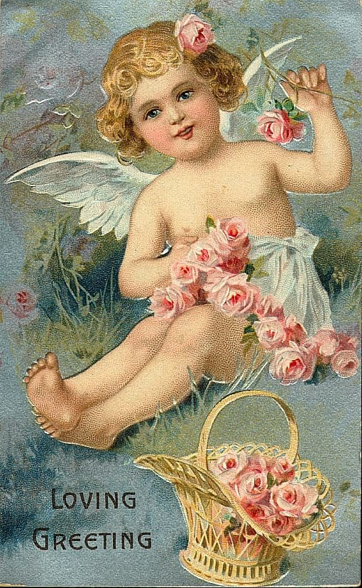 .Vintage Postcards, Valentine Day Cards, Angels Cards, Vintage Angels, Valentine Cards, Old Cards, Vintage Valentine, Vintage Cards, Vintage Image