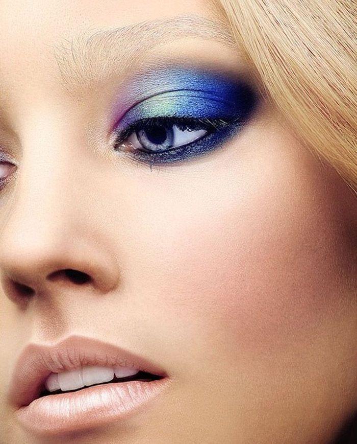 макияж синего цвета фото важно