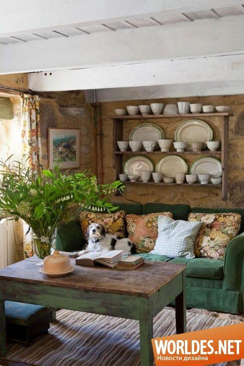 Уютные гостиные в деревенском стиле фото 10
