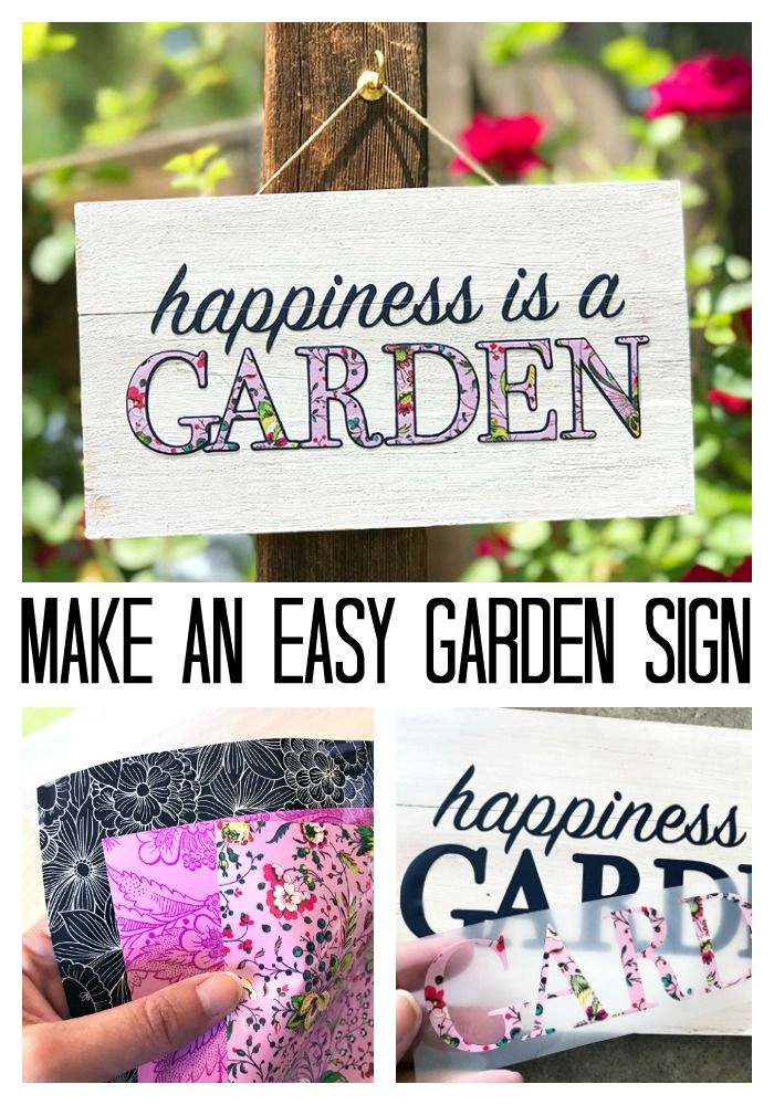 Make An Easy Mini Garden Sign Garden Signs Low Maintenance