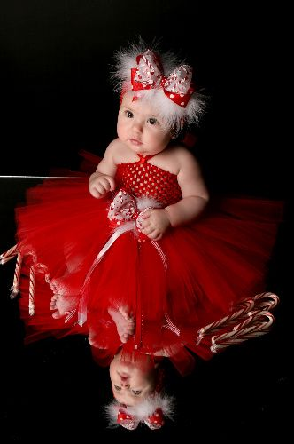 Candy Cane Kisses Baby Girl Tutu Dress
