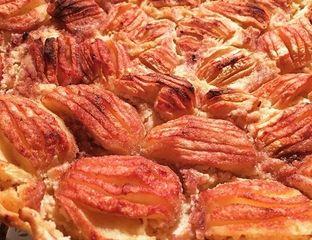 dans les variétés de tarte aux pommes amandes, pour nous ce sera la recette tarte aux pommes sur lit d'amandes #cuisine #recette #food #pomme