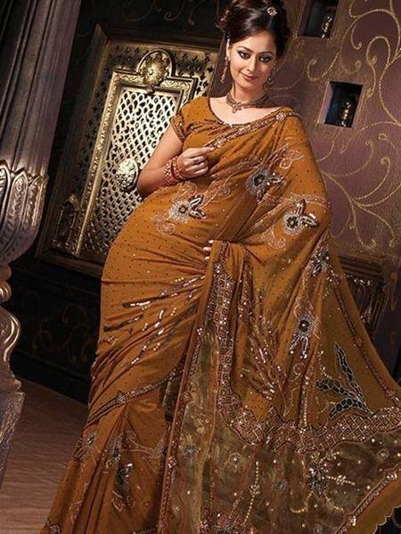 Brown Saree Best For Parties!   #DesignerSarees #Sarees #6Yards #Shades