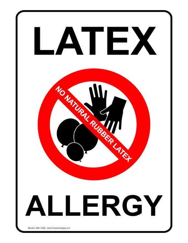 Symptoms of latex condom allergy