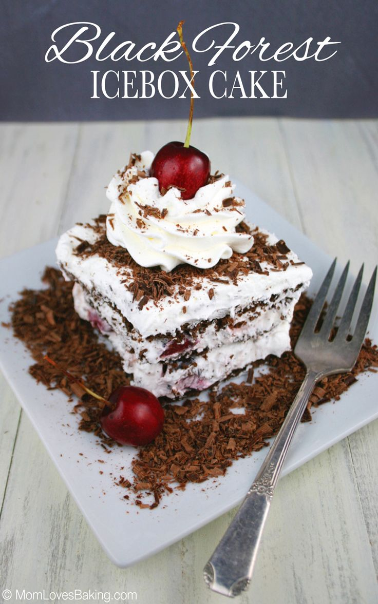 Black Forest Ice Box Cake Recipe 4 Ingredients Ice
