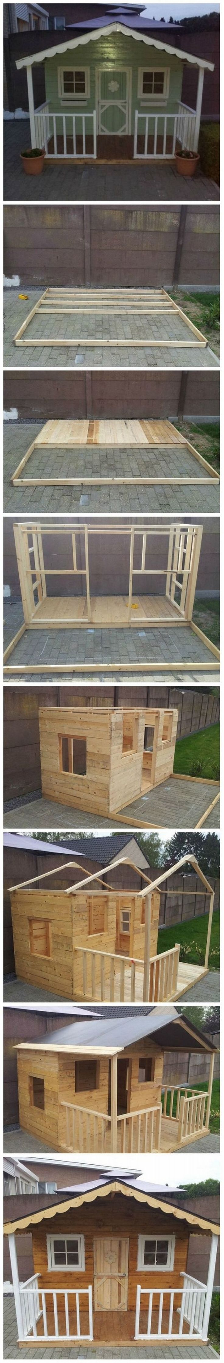 DIY Pallet Playhouse                                                                                                                                                                                 More
