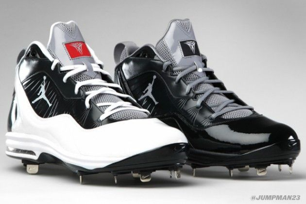Jordan Brand has revealed the cleats that pitcher CC Sabathia will be rocking when he steps on the mound. Looking for that ball to #FlyThrough the strike zone, Jordan Brand gave CC a fresh pair of Jordan Melo M8 sneakers outfitted with cleats for the game.