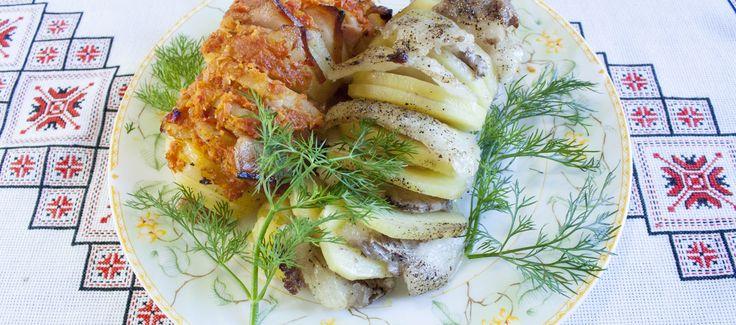 Запеченный картофель в духовке Картошка с мясом в фольге Печена картопля в духовці Страви з картоплі в фользі