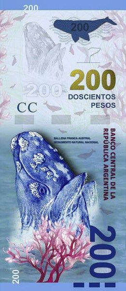 billete de 200 Pesos en Argentina