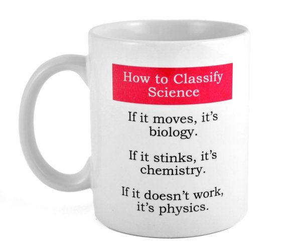 Wissenschaft Biologie Chemie Physik lustige Kaffee oder Tee Tasse