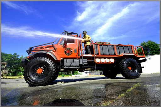 Production Bulldog 4X4 Extreme Brush Truck   Finally a production 4X4 Pumper done right for the right price.  Built by the off-road experts for extreme situations and absolute reliability; Bulldog is 2,000 gallons of go anywhere and the only truck certain to get your water or foam to where its needed.