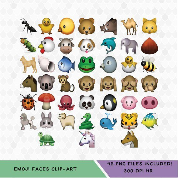 Emoji Animals Clipart Animal Clipart Emoji Clipart Classic Emojis Emotions Clip Art Decal For S Animal Clipart Emoji Clipart Emoji
