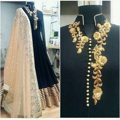 Indian Bollywood Ethnic Designer Anarkali Salwar Kameez Suit & Traditional HJA1