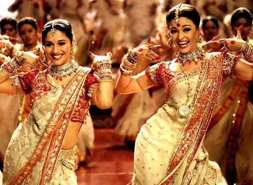 Day 11: Song from your favorite movie: Madhuri Dixit and Aishwarya Rai Bachchan in Dola Re Dola Re Song still from Devdas Movie