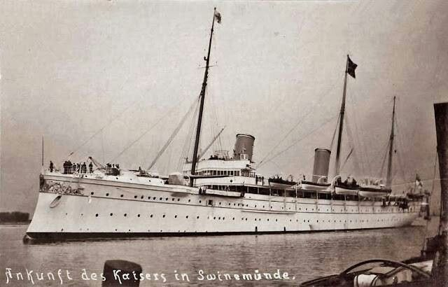 The Hohenzollern, launched in 1892. It was the second largest yacht in the world, after Tsar Nicholas' yacht.
