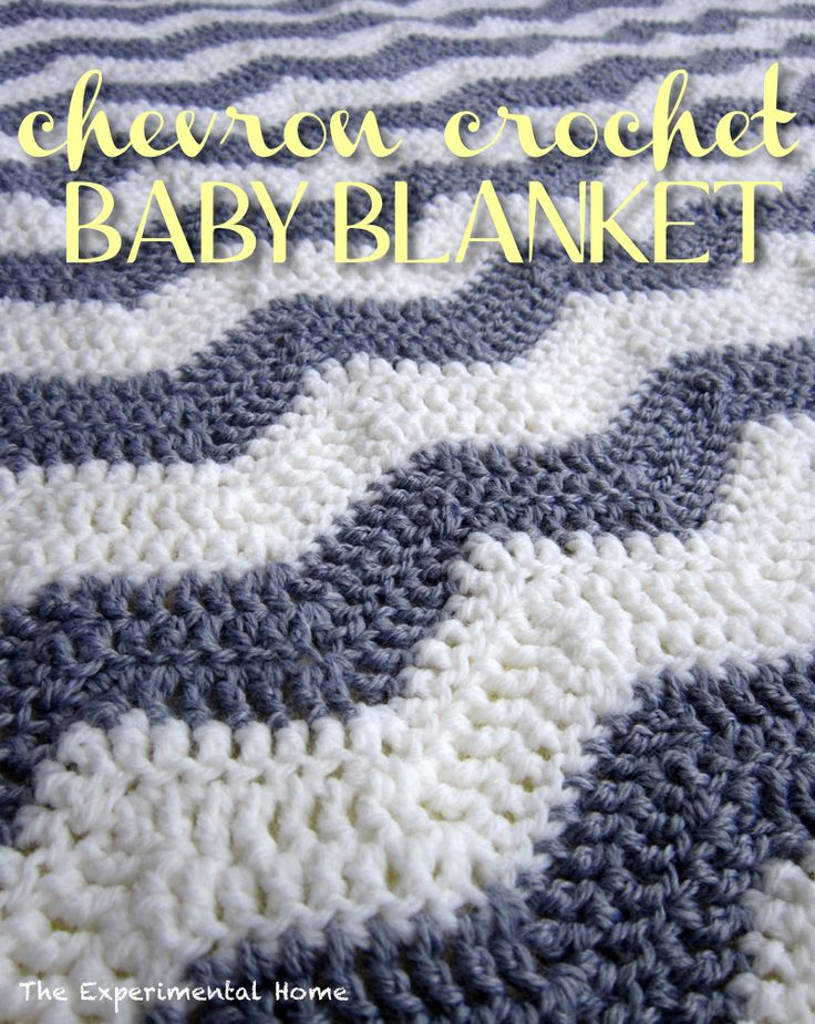 chevron crochet baby blanket - I just learned how to crochet...this is totally on my To-Do list!!