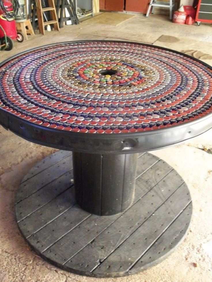 25 best ideas about cable reel table on pinterest cable for Diy wire spool