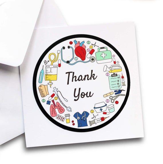 Nurse Week Thank You Printable Card or Nurse Cookie card,Thank you nurse Nurse Appreciation,Thank you preceptor,mini cookie card,RN card