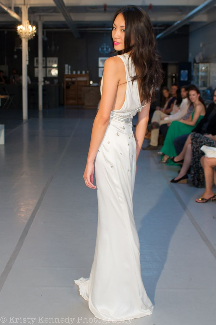 """RUNWAY: Boho-glam bridal in the """"Amy"""" gown. andforlove.com"""