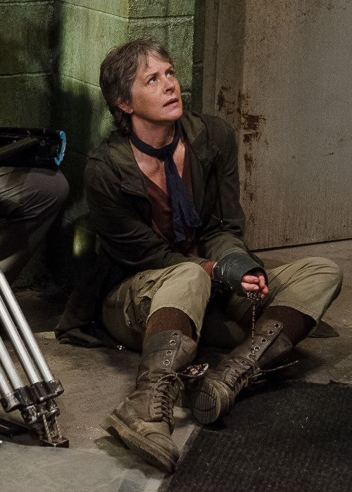 Melissa McBride behind the scenes of The Walking Dead Season 6 Episode 13 | The Same Boat