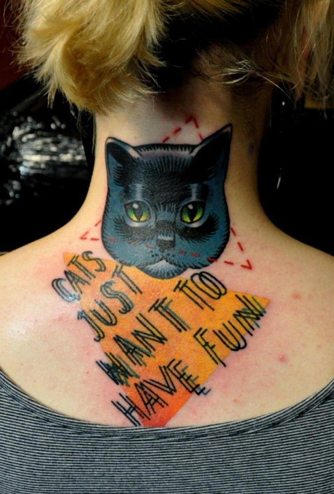 Decouvrez 20 Sublimes Tatouages De Chats Qui Devraient Vous Donner Des Idees Tatouage De Chat Tatouage De Chat Noir Tatouage Chat