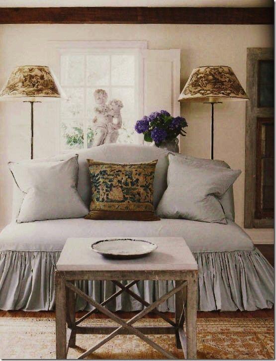 Upholstery inspirationDecor, Full Skirts, Lampshades, Livingroom, Interiors, Slipcovers, Living Room, Floors Lamps, Pillows
