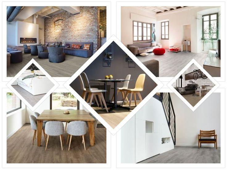 COREtec collage. COREtec vloeren van USFloors. Ideaal voor veel gebruikte en natte ruimtes.