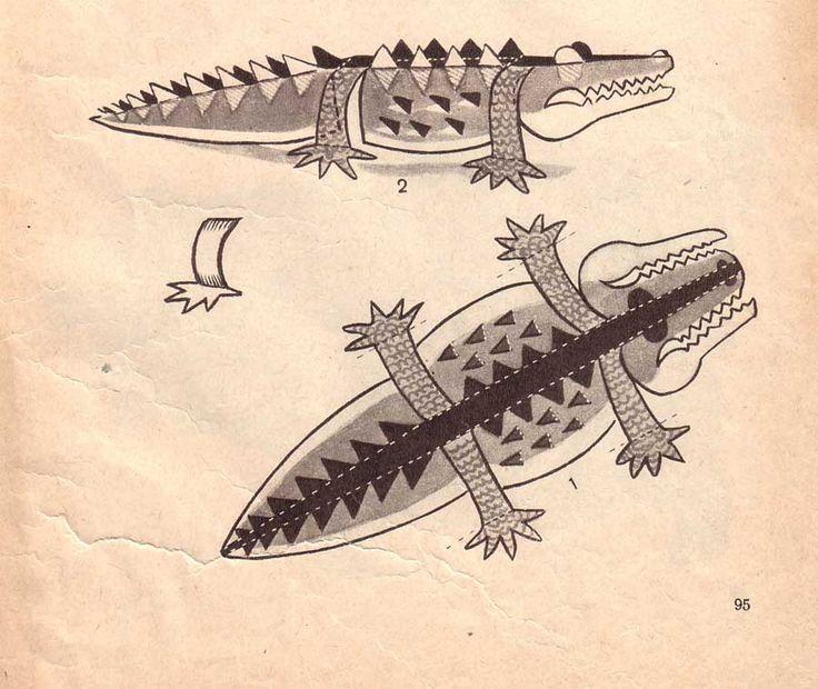 крокодил поделки из бумаги для детей - Поиск в Google