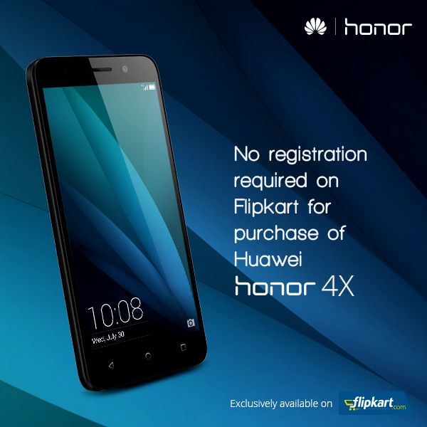It's Easy & Fast Like Never Before No registration required on Flipkart for purchase of Huawei #Honor4X.