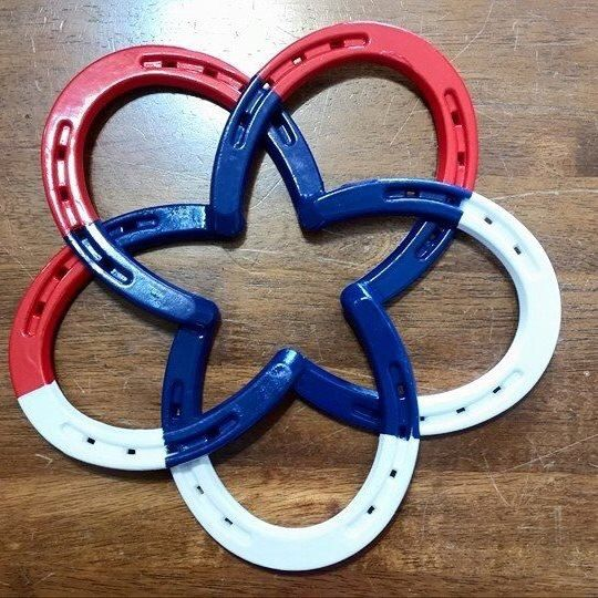 Red White & Blue Infinite Lucky Star Horseshoe by Designsby2D