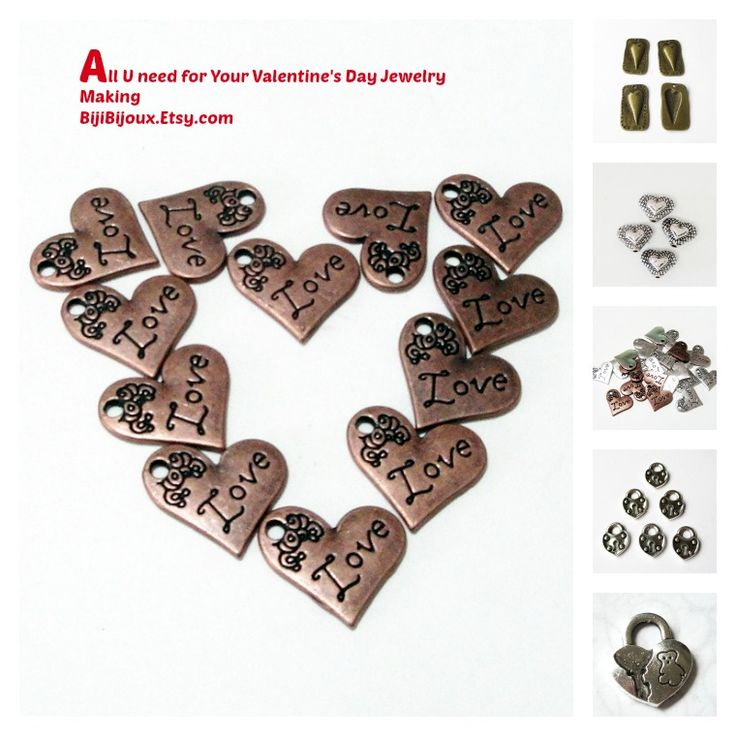 $3.45 #Silver #Heart #Charms https://www.etsy.com/listing/218690198/silver-heart-charm-small-antique-silver?ref=shop_home_active_6