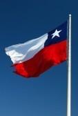 Santiago, Chile : la bandera de Chile Foto de archivo